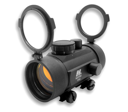 1x42 B-Style Red Dot Rifle Sight with Weaver Base thumbnail