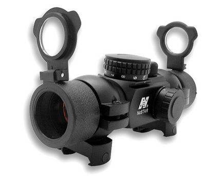 1x30 T-Style Red Dot Rifle Sight with 4 Different Reticals and Weaver Rings thumbnail